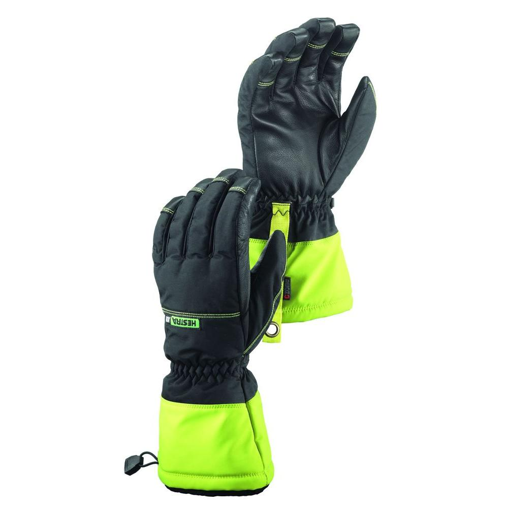 Hestra JOB Czone Pro Finger Size 11 XX-Large Cold Weather Insulated Waterproof Glove in Black and High Vis Yellow