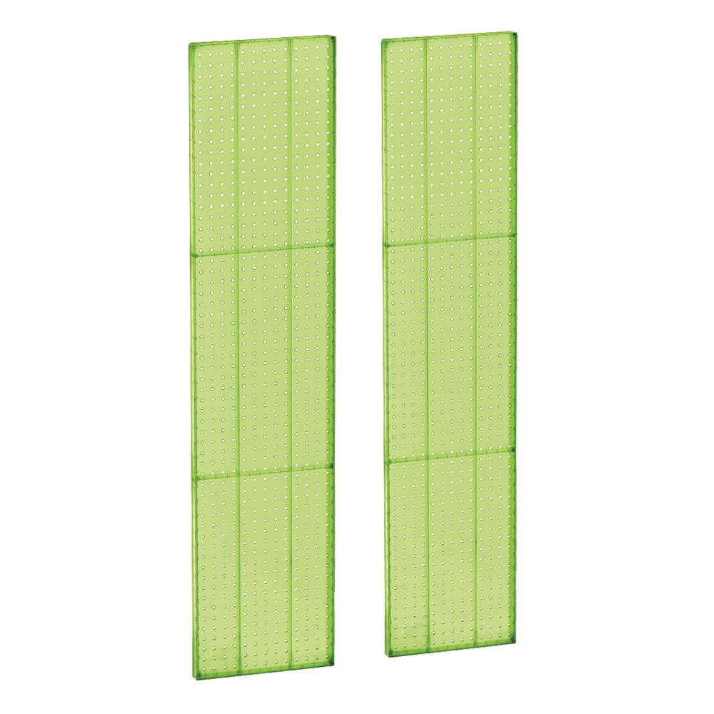 60 in. H x 13.5 in. W Green Styrene Pegboard with