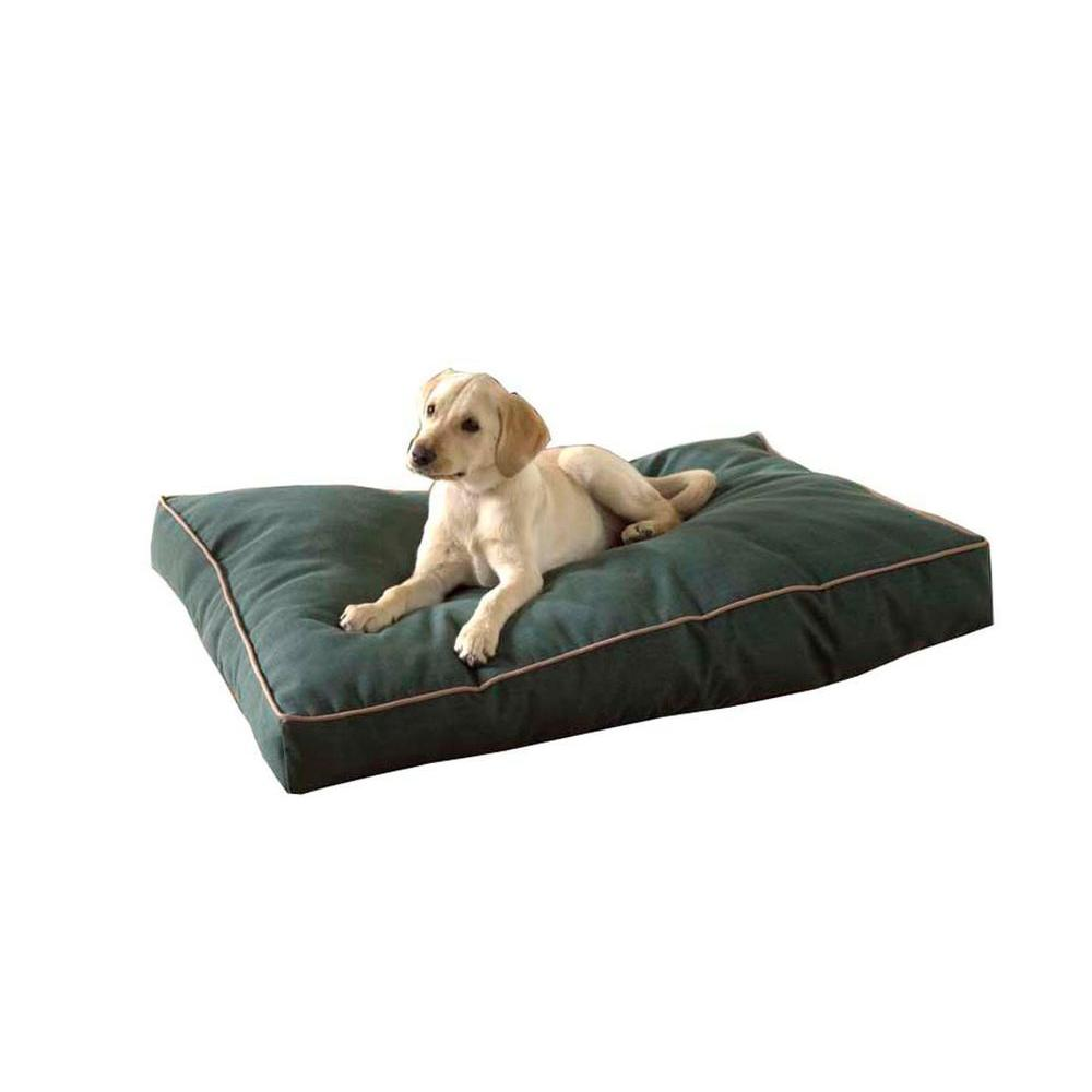 Large Hunter Green Indoor/Outdoor Faux Gusset Jamison Bed-1566 - The ...