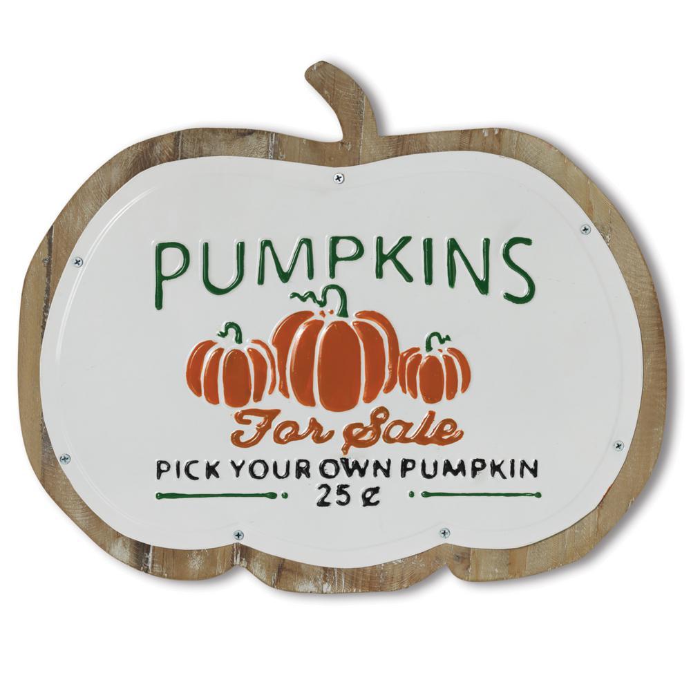14.96 in. H Pumpkins Wall Decor