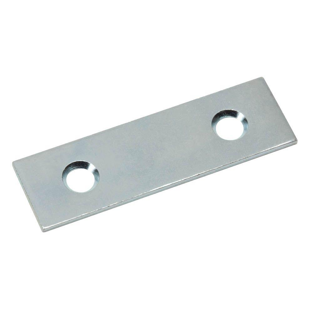 2 in. Zinc-Plated Mending Plate (4-Pack)