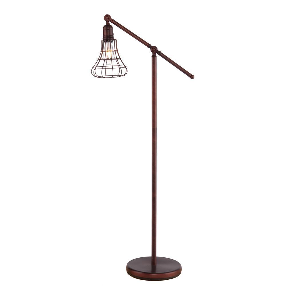 Porter 52 in. Coppery Brushed Bronze Floor Lamp