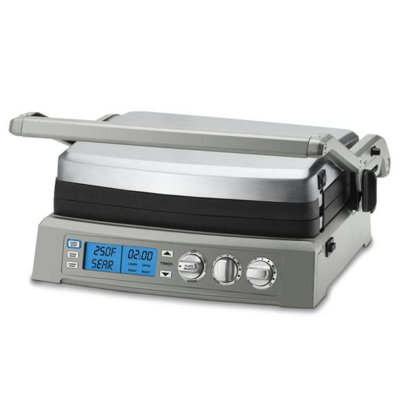 Griddler Elite 240 sq. in. Brushed Stainless Steel Non-Stick Indoor Grill