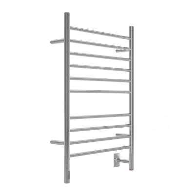 Argenta 10-Bar Electric Wall Mount Plug-In and Hardwire Towel Warmer with Integrated Timer in Polished Stainless Steel
