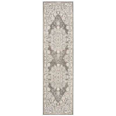 Reflection Dark Gray/Cream 2 ft. 3 in. x 8 ft. Runner