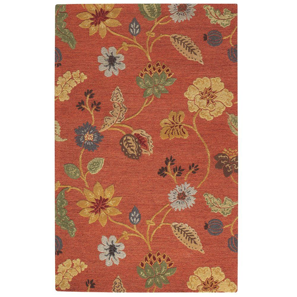 Home Decorators Collection Portico Red 2 ft. 6 in. x 4 ft. 6 in. Accent Rug