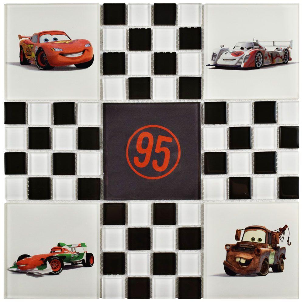 Disney Cars Black And White 11 3 4 In X