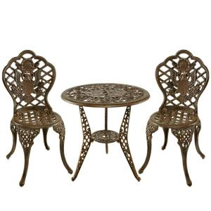 American Eagle 3-Piece Aluminum Outdoor Bistro Set by