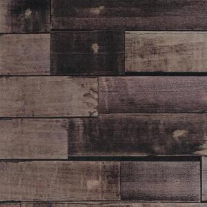 Decowall Zurich Chocolate Wood Peel and Stick 3D-Effect Self Adhesive DIY Wallpaper by Decowall