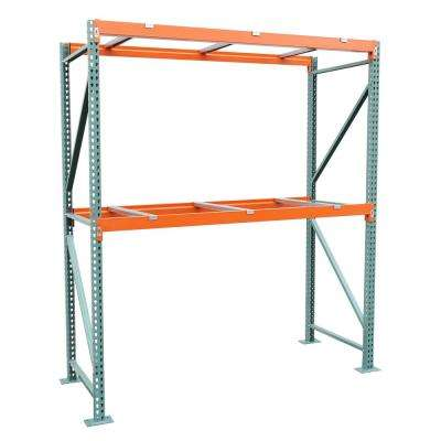 48 in. D x 108 in. W x 120 in. H Steel Heavy Duty 2-tier with Steel Supports Pallet Rack Starter Unit