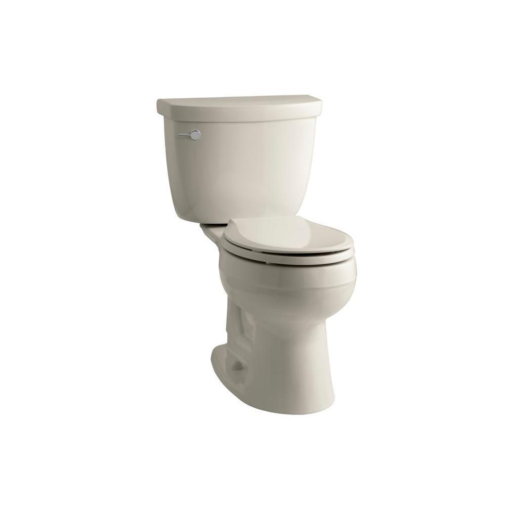 KOHLER Cimarron Comfort Height 2-Piece 1.6 GPF Round Front Toilet in Sandbar-DISCONTINUED