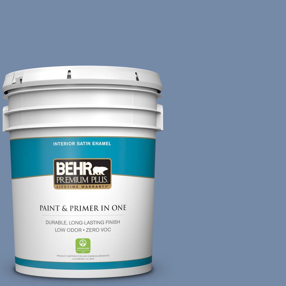 BEHR Premium Plus 5-gal. #590F-5 Magic Spell Zero VOC Satin Enamel Interior Paint
