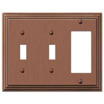Steps 2 Toggle 1 Decora Wall Plate - Antique Copper