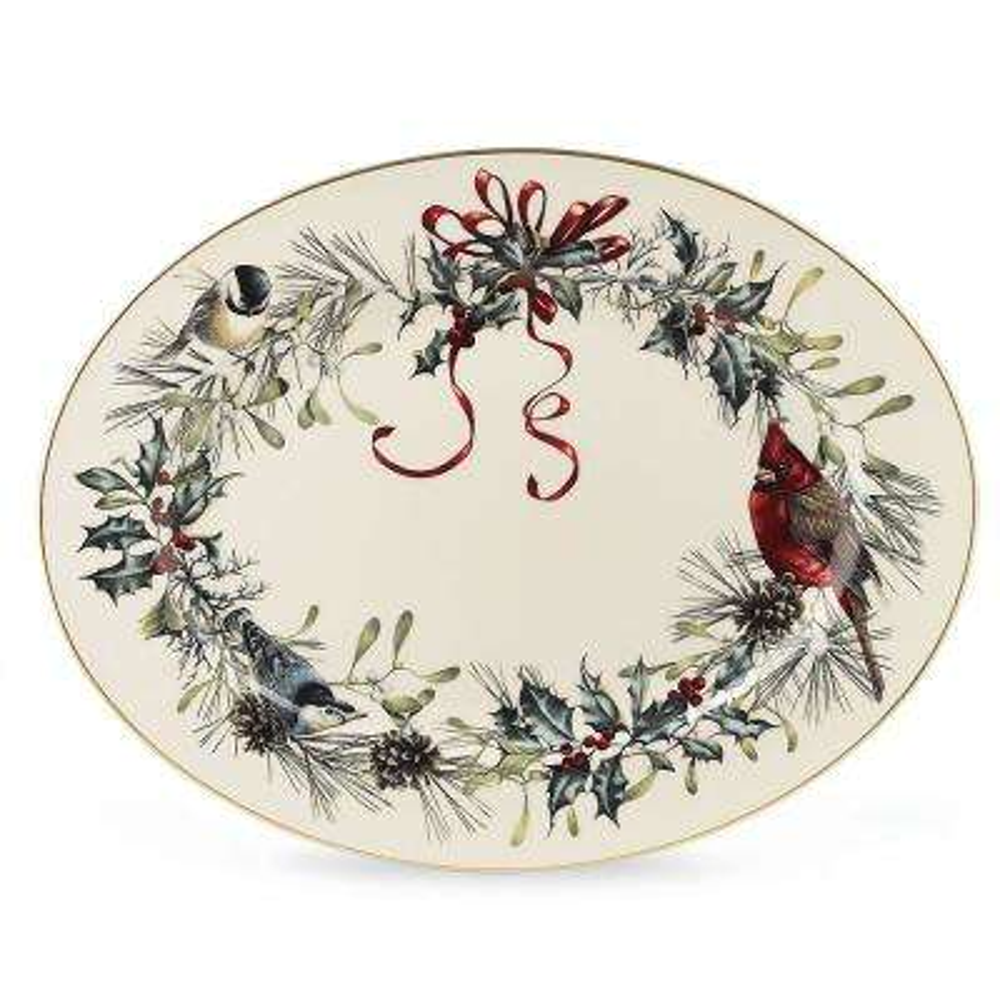 Winter Greetings 16 in. Oval Platter