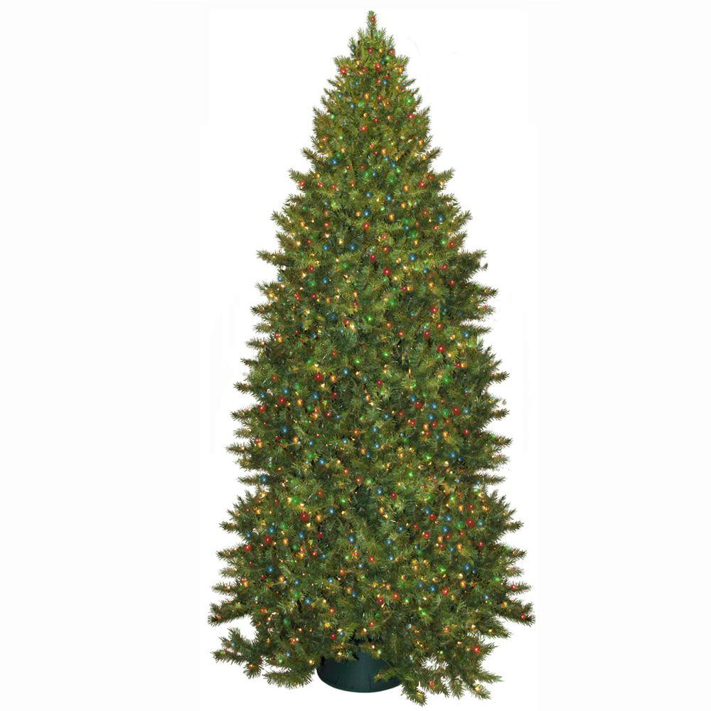 general foam 12 ft pre lit carolina fir artificial christmas tree with multi - 12 Artificial Christmas Tree