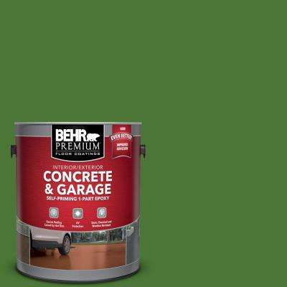 1 gal. #P380-7 Luck of the Irish Self-Priming 1-Part Epoxy Satin Interior/Exterior Concrete and Garage Floor Paint