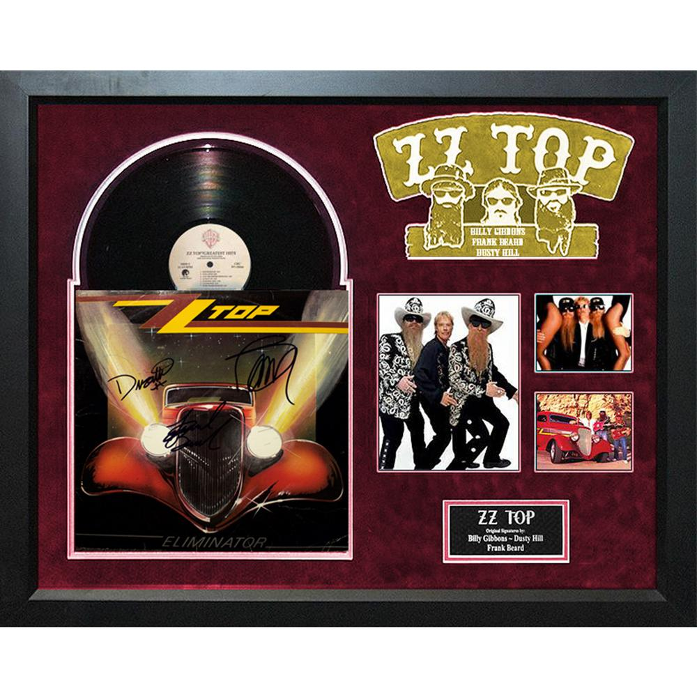 Prints By Deluxe: ZZ Top (Eliminator) Deluxe Album Framed Wall Art-LWMV1