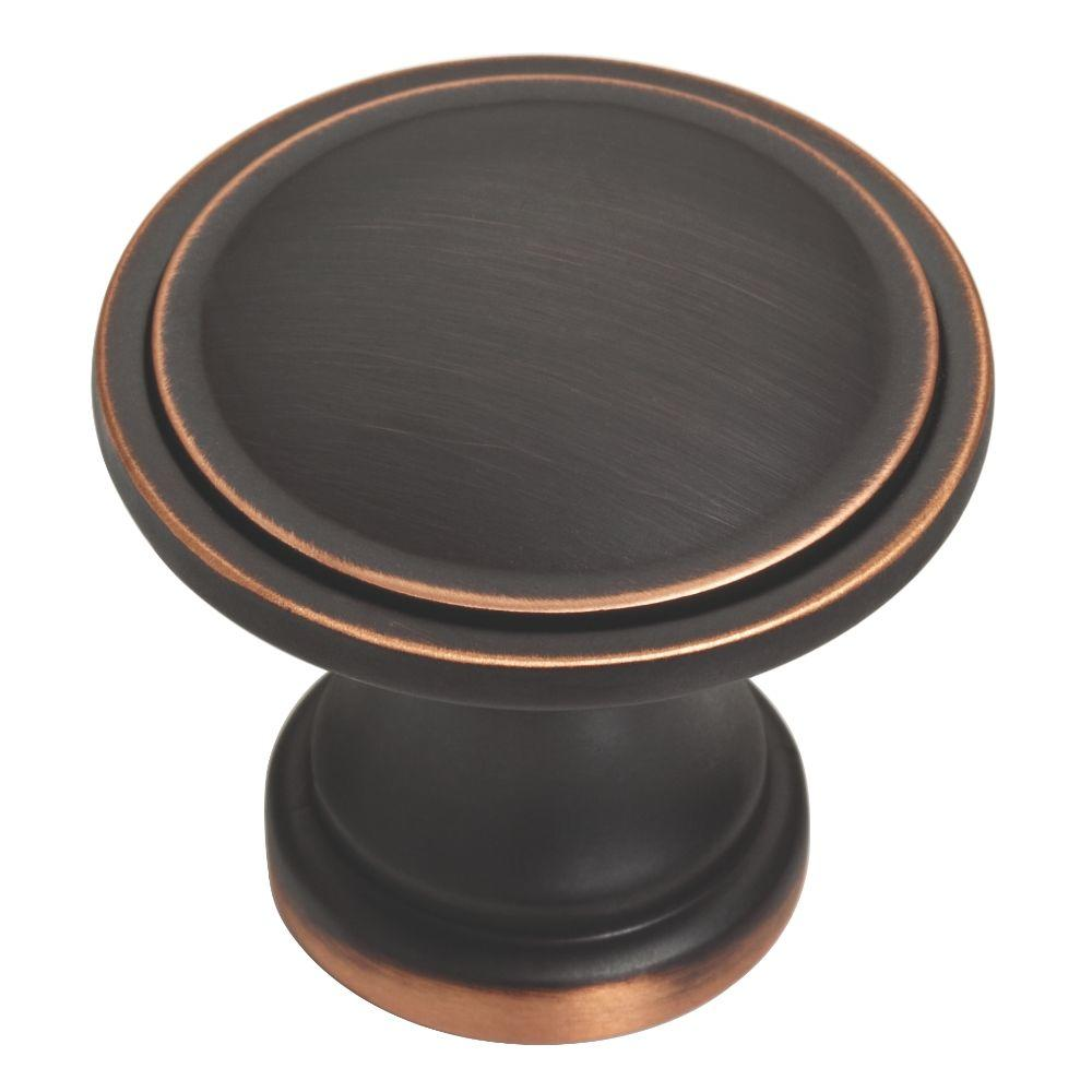 Liberty Classic 1-3/4 in. (45mm) Bronze with Copper Highlights Oversized Ridge Round Cabinet Knob