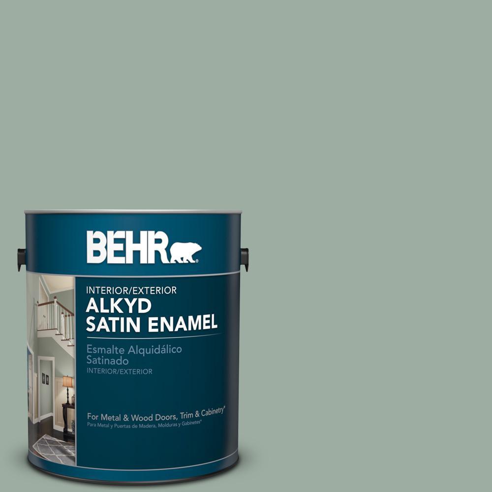 1 gal. #AE-39 Danger Isle Satin Enamel Alkyd Interior/Exterior Paint