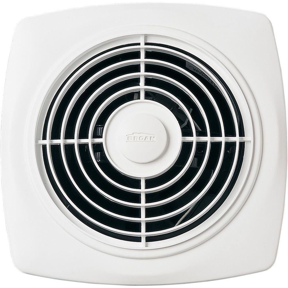 Broan CFM ThroughtheWall Exhaust Fan The Home Depot - Cleaning bathroom vent fan