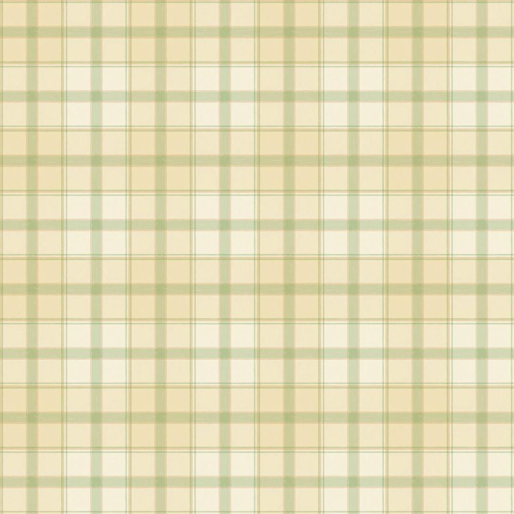 The Wallpaper Company 8 in. x 10 in. Green Pastel Plaid Wallpaper Sample