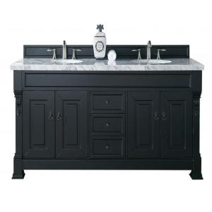 James Martin Signature Vanities Brookfield 72 inch W Double Vanity in Antique Black with Marble Vanity Top in Carrara... by James Martin Signature Vanities