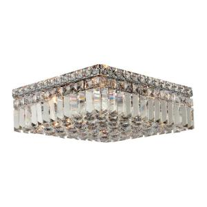 Worldwide Lighting Cascade Collection 5 Light Crystal and Chrome Ceiling Light by Worldwide Lighting