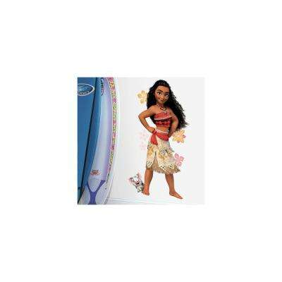 5 in. x 19 in. Disney Moana 10-Piece Peel and Stick Giant Wall Decals