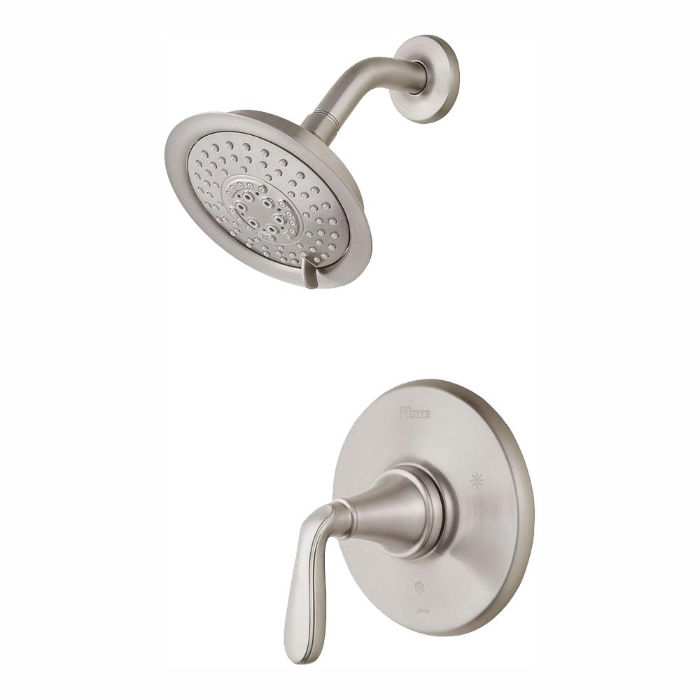 Pfister Northcott Single Handle Shower Faucet Trim Kit In Brushed Nickel Valve Not Included Lg89 7mgk The Home Depot