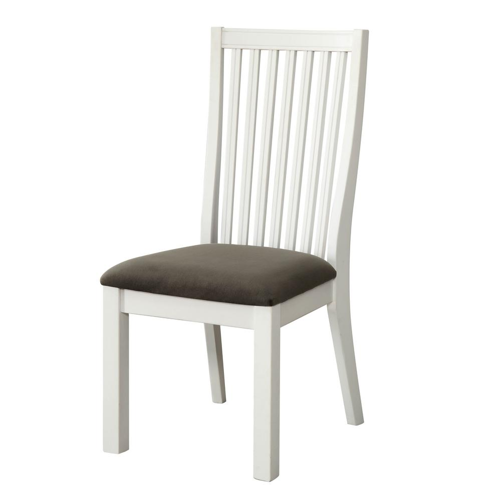 Furniture Of America Geilo White Cushioned Dining Chair Set Of 2 Idf 3761sc The Home Depot