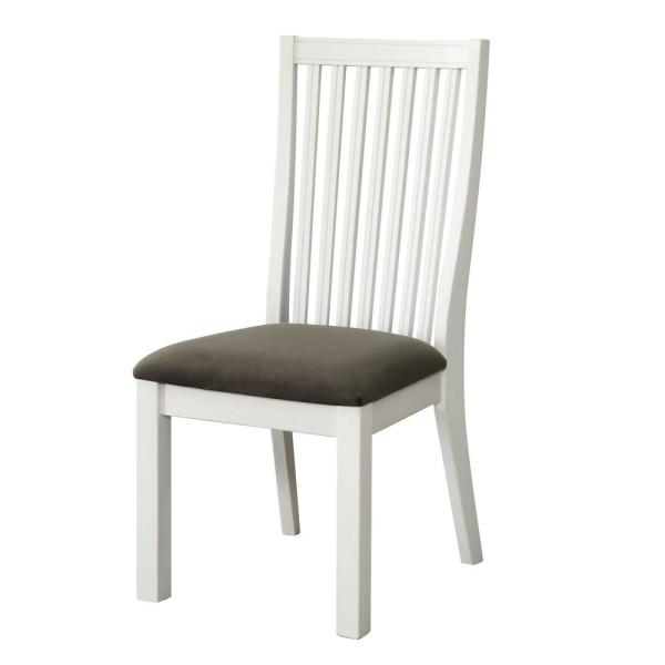 Furniture Of America Geilo White Cushioned Dining Chair Set 2