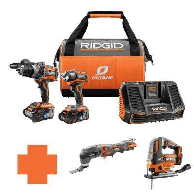 18-Volt OCTANE Lithium-Ion Cordless Brushless Combo Kit w/Bonus Brushless JobMax Multi-Tool & Brushless Jig Saw