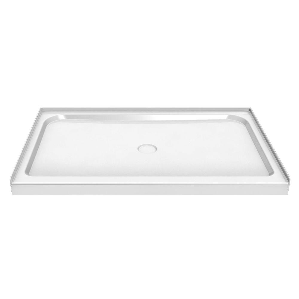MAAX 48 in. x 32 in. Single Threshold Shower Base in White