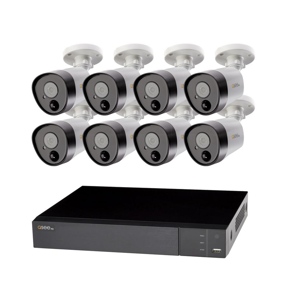 Q-SEE 8-Channel 5MP 2TB DVR Surveillance System with (8) 5MP Bullet Cameras