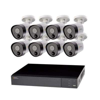 8-Channel 5MP 2TB DVR Surveillance System with (8) 5MP Bullet Cameras