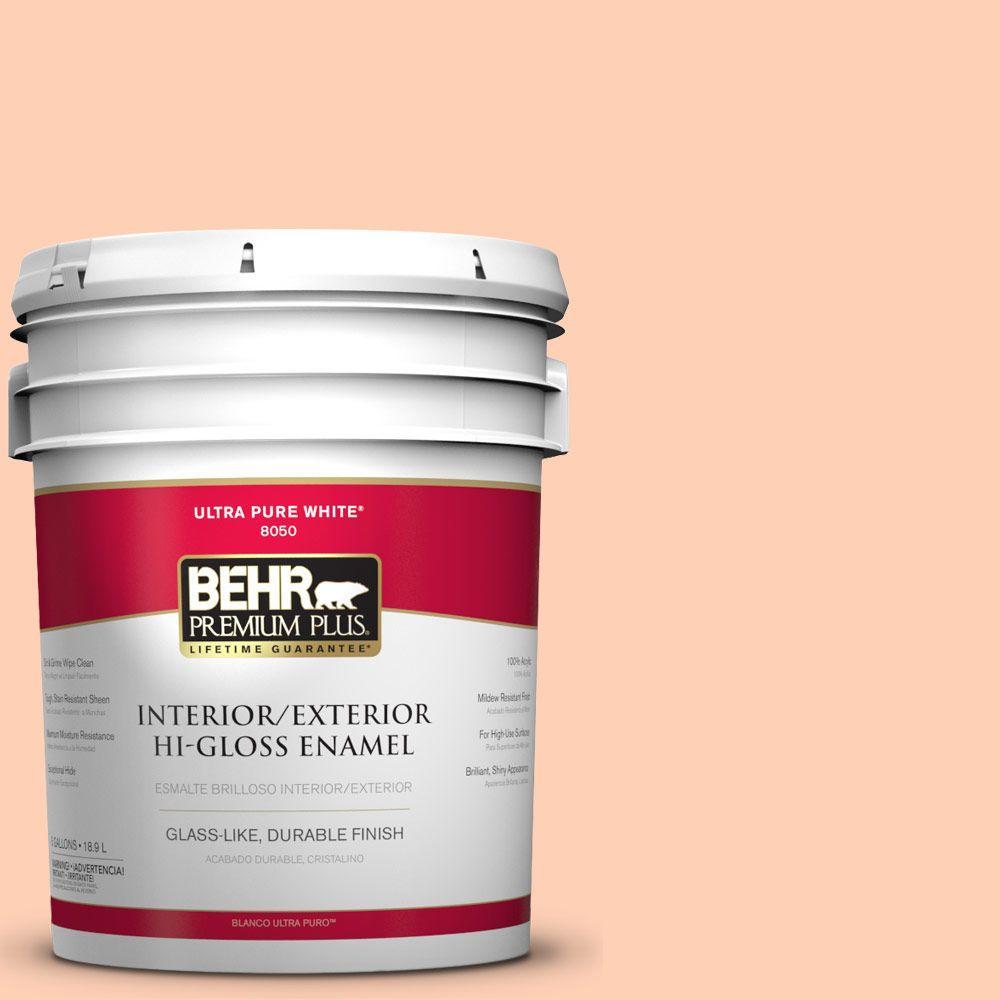 BEHR Premium Plus 5-gal. #P200-2 Sensual Peach Hi-Gloss Enamel Interior/Exterior Paint