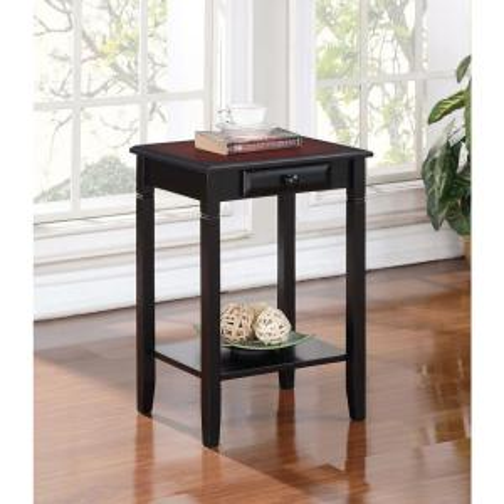Linon Home Decor Camden Black Cherry Storage End Table by Linon Home Decor