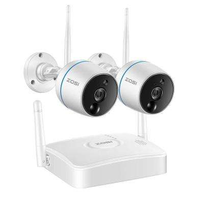 4-Channel 1080p NVR Security Camera System with 2 Wireless Bullet Cameras