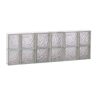 42.5 in. x 15.5 in. x 3.125 in. Non-Ice Pattern Vented Glass Block Window