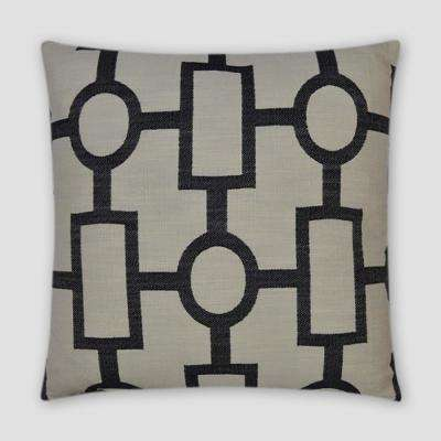 Ellington Black Feather Down 18 in. x 18 in. Standard Decorative Throw Pillow