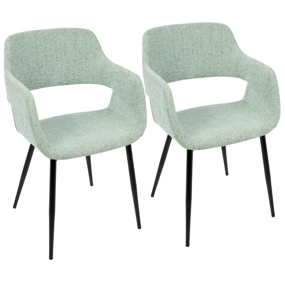 Lumisource Margarite Mid Century Light Green Modern Dining/Accent Chair (Set  Of 2