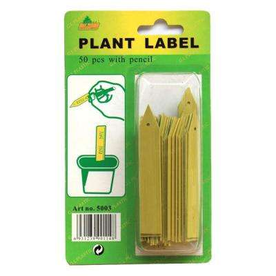 Plant Stake Labels with Pencil (50-Count) (4-Pack)