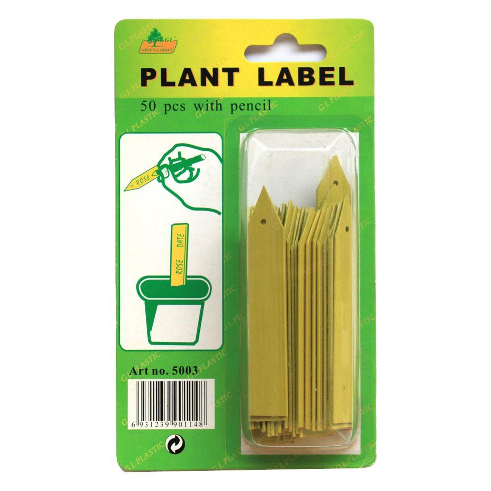 Viagrow 50-Count Plant Stake Labels with Pencil (4 Pack)