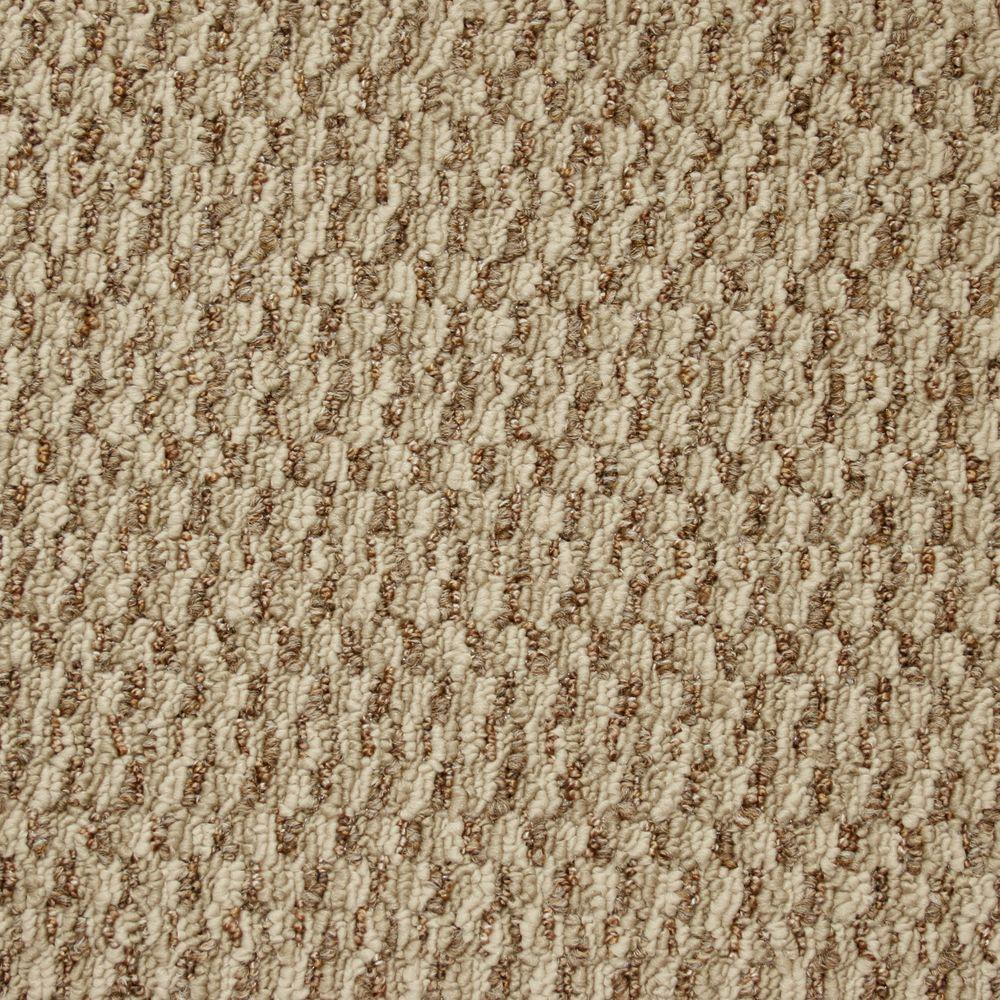 TrafficMASTER State of the Art - Color Deerfoot Textured Graphic Berber 12 ft. Carpet