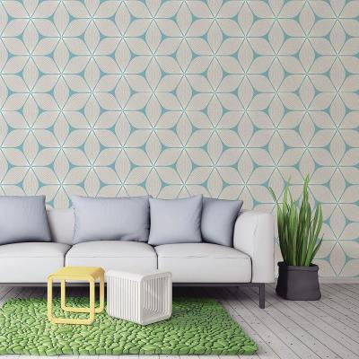 56.4 sq. ft. Vibration Cream Geometric Wallpaper