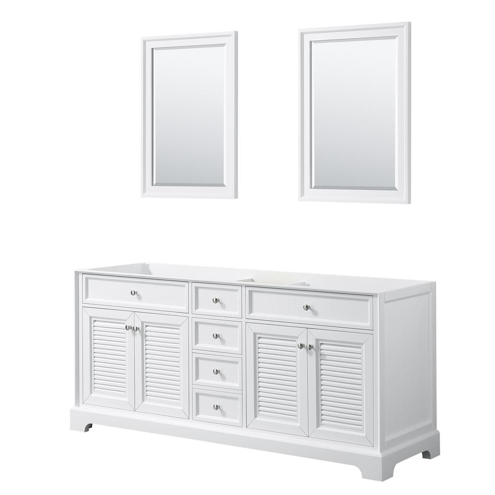 Tamara 72.75 in. Double Bathroom Vanity Cabinet Only with 24 in.