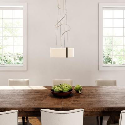 Bourland 3-Light Polished Chrome Pendant with Polished Glass Drum Shade