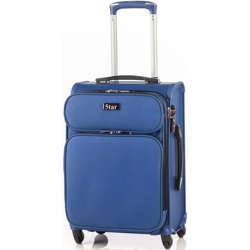 5tar 20 In Navy Blue Hybrid Cabin Luggage Hp 1067tbu The Home Depot