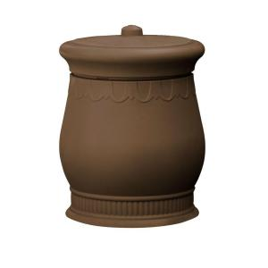 Savannah 23 inch x 23 inch x 32 inch Polyethylene Urn Waste and Storage Bin in Oak by