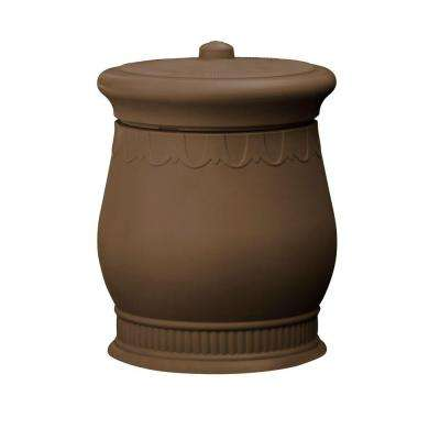 Savannah 23 in. x 23 in. x 32 in. Polyethylene Urn Waste and Storage Bin in Oak